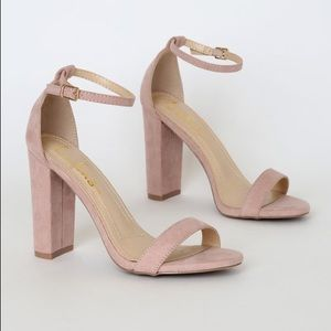 Lulu's Taylor Ankle Strap Pumps in Blush Pink NWOT